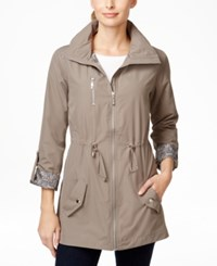 Jm Collection Petite Cinch Waist Anorak Jacket Only At Macy's