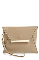 Bp. Faux Leather Envelope Clutch Beige Taupe