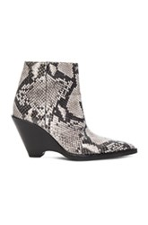 Acne Studios Caroline Snake Skin Booties In Black Animal Print Black Animal Print