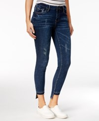 Rampage Juniors' Sophie Ripped Skinny Jeans Central Wash