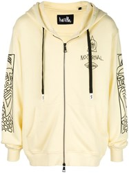 Haculla Guy And His Gun Zip Front Hoodie White
