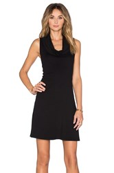 Three Dots Meryl Cowl Neck Dress Black