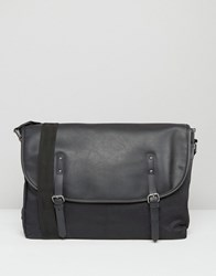 Asos Satchel In Black Faux Leather Black