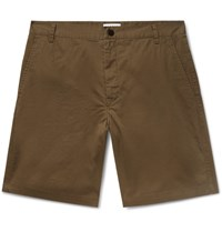 Sandro Slim Fit Stretch Cotton Twill Shorts Army Green