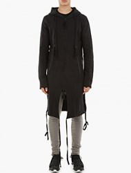 Thom Krom Elongated Hooded Sweatshirt