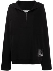 Katharine Hamnett London Hooded Oversized Sweatshirt Black