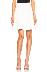 Jonathan Simkhai Knit Flare Skirt In White