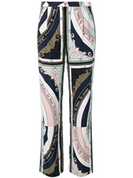 Tory Burch Constellation Printed Trousers Blue