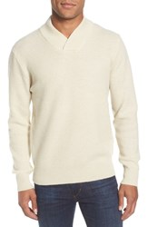 Schott Nyc Waffle Knit Thermal Wool Blend Pullover Off White