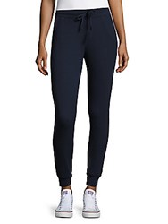 Splendid Thermal Cotton Blend Jogger Pants Navy