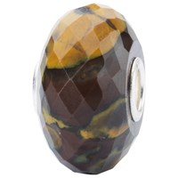 Trollbeads Sterling Silver Calcite Rock Bead Charm Brown