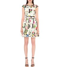 Ted Baker Lusara Twill Skater Dress Ivory