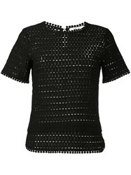 Blugirl Shortsleeved Knitted Blouse Black