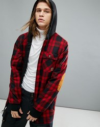 Dc Shoes Snow Backwoods Checked Jacket With Insulated Flannel Red