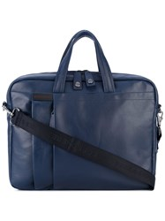 Borbonese Laptop Bag Men Leather One Size Blue