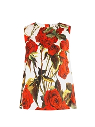 Dolce And Gabbana Rose Brocade Sleeveless Top
