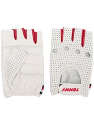 Tommy Hilfiger Perforated Driving Gloves White