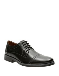 Clarks Garran Leather Oxfords Black