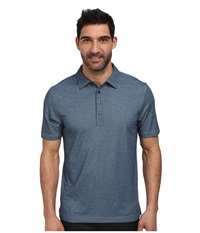 Travismathew Crenshaw S S Polo Heather Blue Men's Short Sleeve Knit