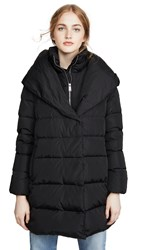 Add Down Hooded Coat Black