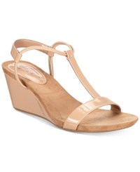 Styleandco. Style Co Mulan Wedge Sandals Created For Macy's Women's Shoes Nude Patent