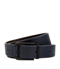Dunhill Reversible Chassis Leather Belt Unisex Navy