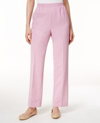 Alfred Dunner Cyprus Collection Pull On Straight Leg Pants Rose