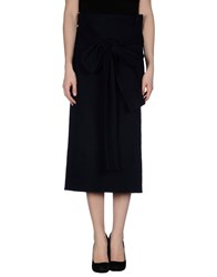 Douuod Skirts 3 4 Length Skirts Women Dark Blue