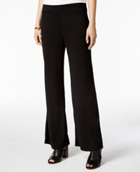 Tommy Hilfiger Pull On Wide Leg Pants Only At Macy's Black