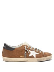 Golden Goose Superstar Suede Trainers Brown Multi