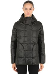Invicta Hooded Nylon Puffer Jacket Black