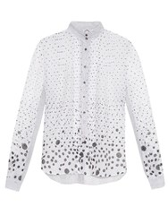 Thierry Colson Peggy Polka Dot Print Blouse White Multi