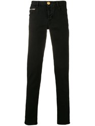 Emporio Armani Logo Patch Jeans Black