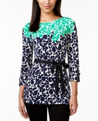 Charter Club Three Quarter Sleeve Belted Top Only At Macy's