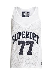 Superdry Athletic Lace Tank Top White