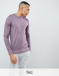 Ted Baker Tall Crew Neck Jumper In Pink