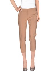 Elisabetta Franchi Trousers 3 4 Length Trousers Women Skin Color