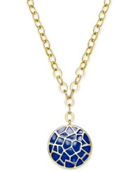 Charter Club Erwin Pearl Atelier For Gold Tone Crackled Disc Pendant Necklace Only At Macy's