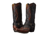 Stetson Biker Outlaw Brown Black Cowboy Boots