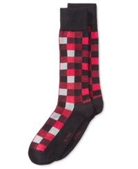 Alfani Men's Box Texture Socks Only At Macy's Red