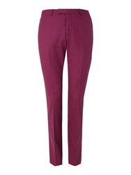 Noose And Monkey Men's Ellroy Suit Trousers Dark Pink
