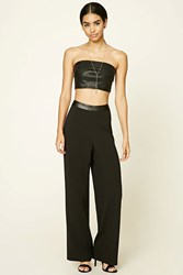 Forever 21 Wide Leg Trousers Black