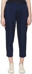 Blue Blue Japan Navy Pleated Trousers
