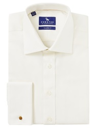 Chester By Chester Barrie Double Cuff Oxford Shirt Cream