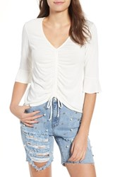 Mimi Chica Cinch Front Tee Ivory
