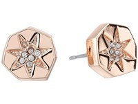 Vince Camuto Rose Gold Crystal Pave Studs Rose Gold Earring