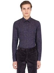 Trussardi Slub Cotton Blend Twill Shirt