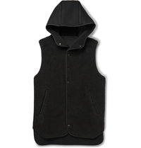 Tim Coppens Faux Shearling Gilet Black