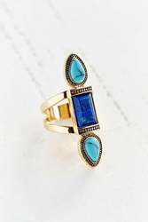 Urban Outfitters Triple Stone Ring Blue
