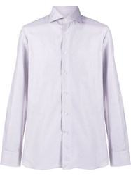 Canali Checked Shirt White